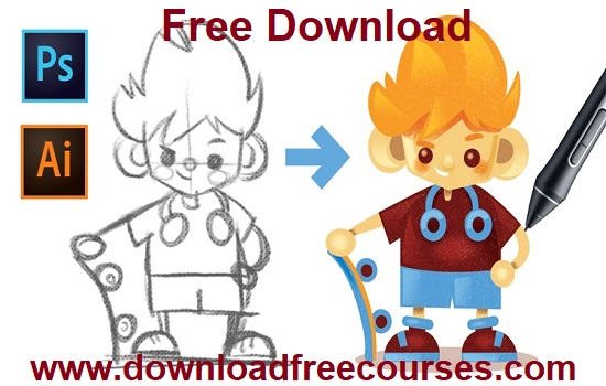 Drawing Characters with Photoshop and Illustrator CC Free Download